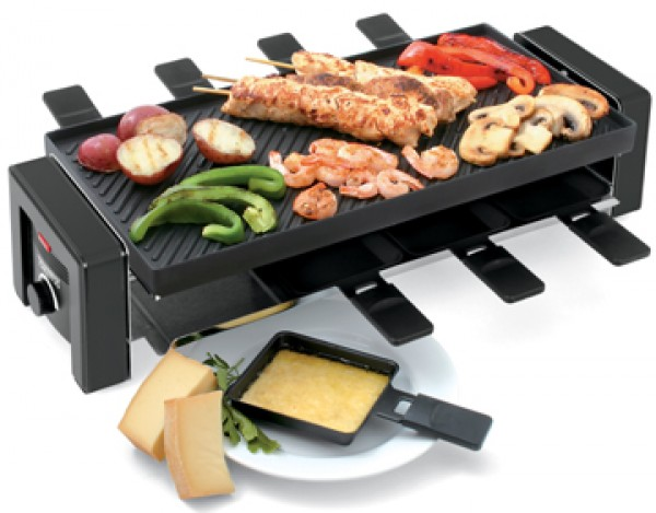 aldi raclette grill swissmar kf 77043 8 person classic raclette party grill swissmar classic. Black Bedroom Furniture Sets. Home Design Ideas